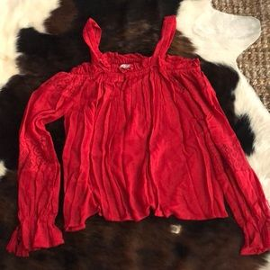 Band of gypsies red off the shoulder top